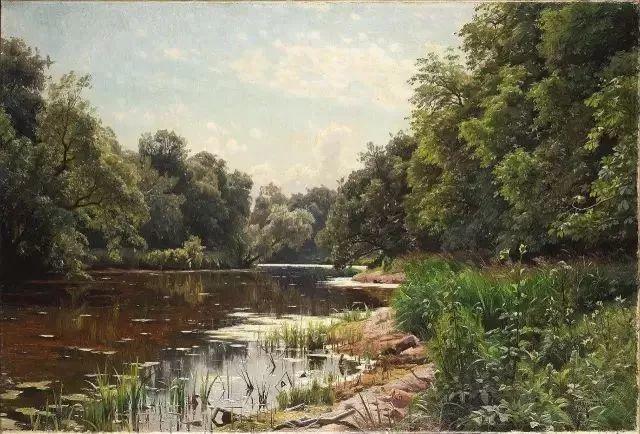 他的画描绘了一派祥和的田园风光,安静美好插图49