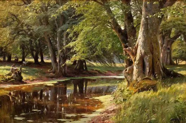 他的画描绘了一派祥和的田园风光,安静美好插图26