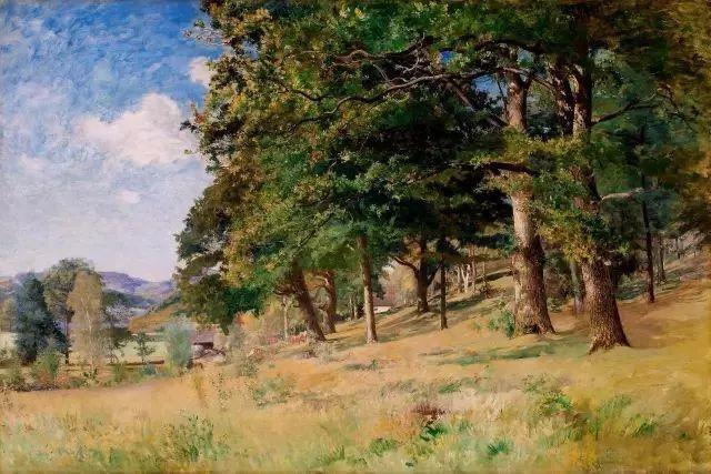 他的画描绘了一派祥和的田园风光,安静美好插图55