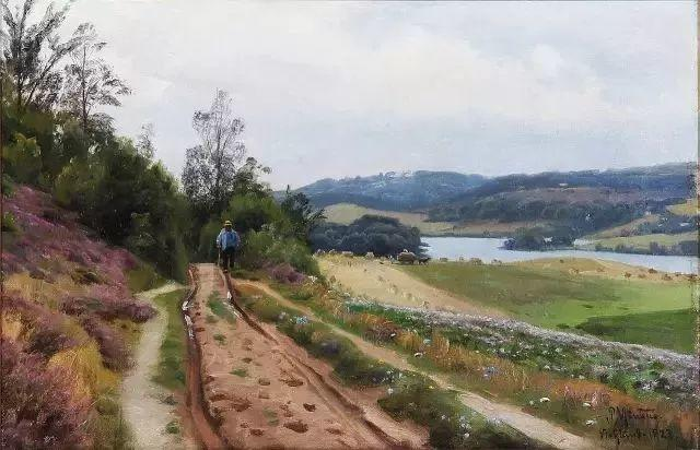 他的画描绘了一派祥和的田园风光,安静美好插图59