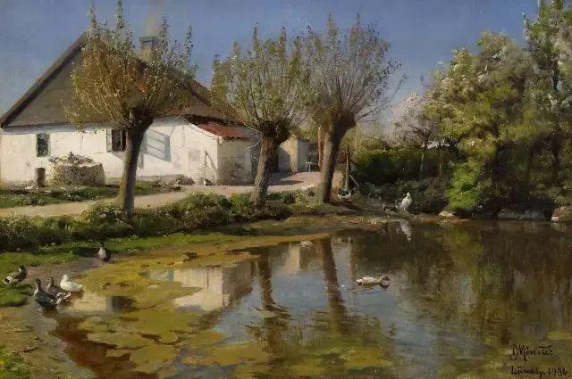 他的画描绘了一派祥和的田园风光,安静美好插图61