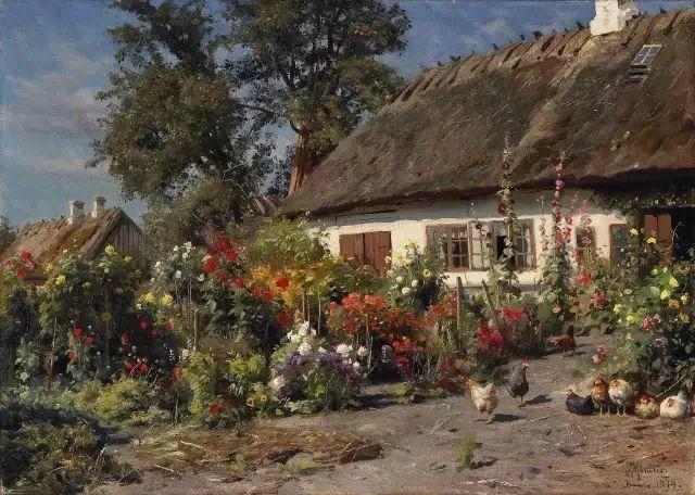 他的画描绘了一派祥和的田园风光,安静美好插图65