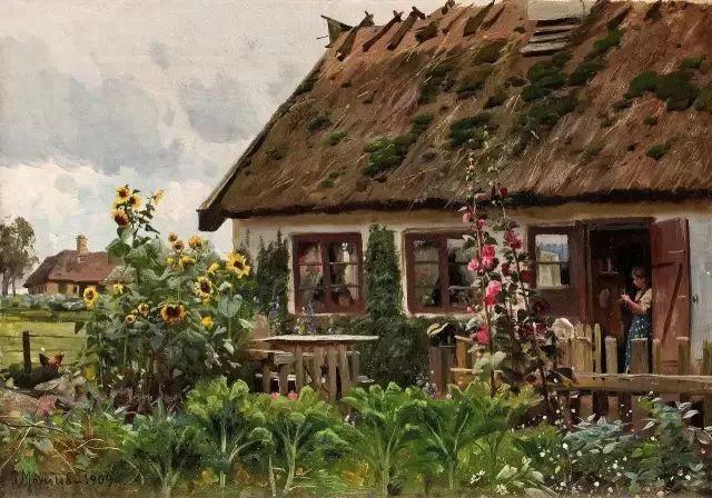他的画描绘了一派祥和的田园风光,安静美好插图67