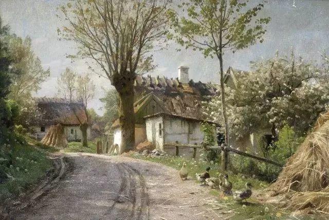 他的画描绘了一派祥和的田园风光,安静美好插图69