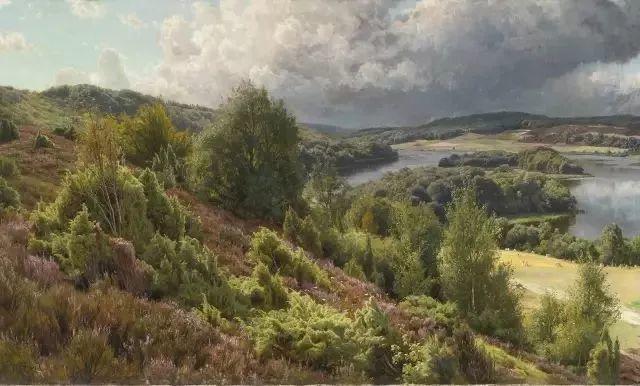 他的画描绘了一派祥和的田园风光,安静美好插图73