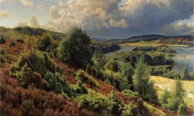他的画描绘了一派祥和的田园风光,安静美好插图75