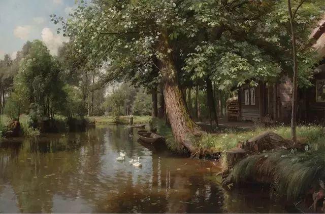 他的画描绘了一派祥和的田园风光,安静美好插图38