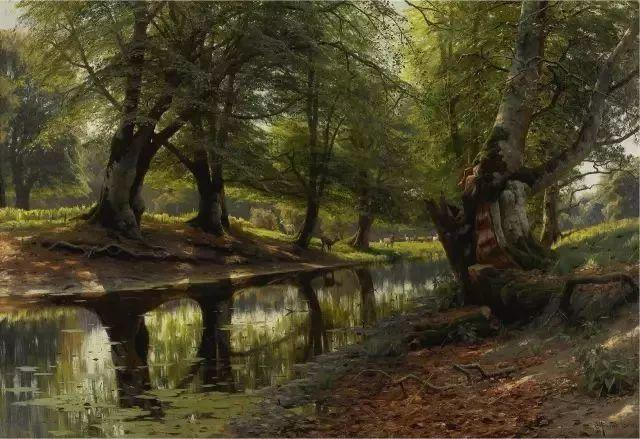 他的画描绘了一派祥和的田园风光,安静美好插图85