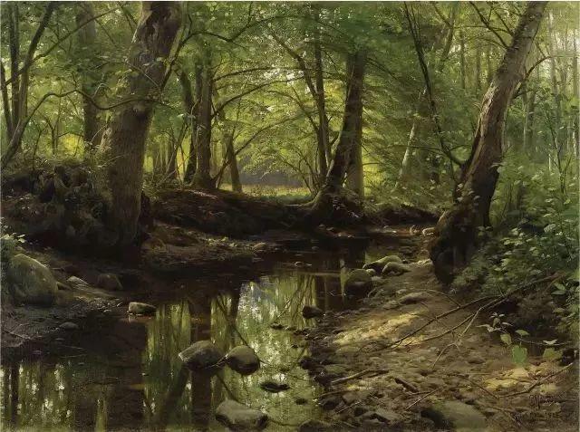 他的画描绘了一派祥和的田园风光,安静美好插图87