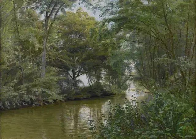 他的画描绘了一派祥和的田园风光,安静美好插图91