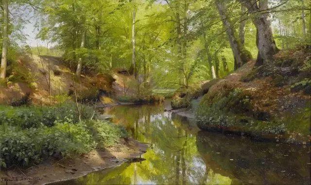 他的画描绘了一派祥和的田园风光,安静美好插图95