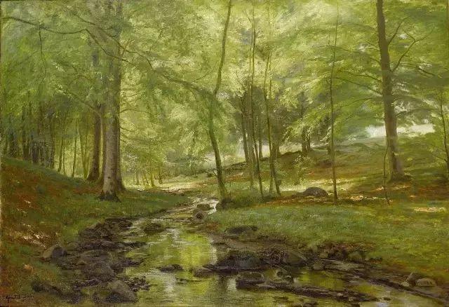 他的画描绘了一派祥和的田园风光,安静美好插图97