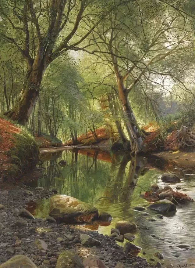 他的画描绘了一派祥和的田园风光,安静美好插图101