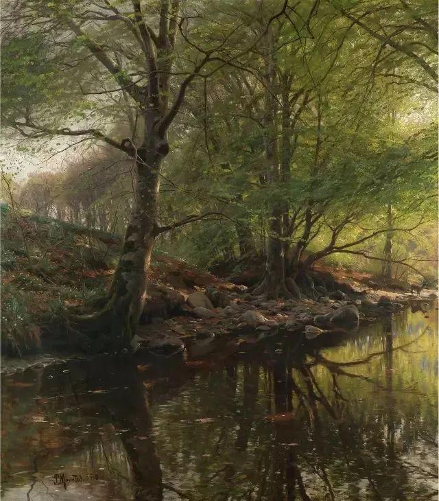 他的画描绘了一派祥和的田园风光,安静美好插图51