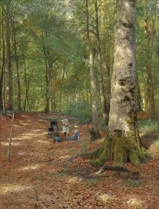 他的画描绘了一派祥和的田园风光,安静美好插图52