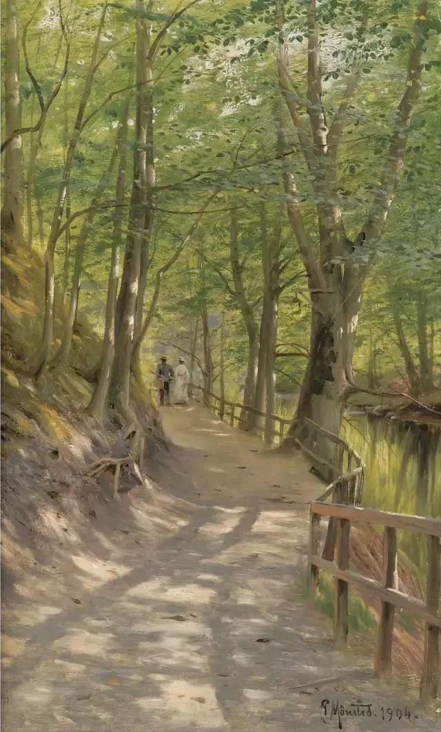 他的画描绘了一派祥和的田园风光,安静美好插图53