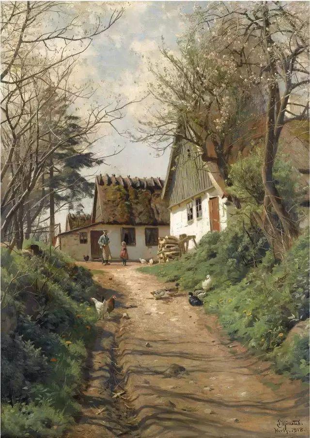 他的画描绘了一派祥和的田园风光,安静美好插图111