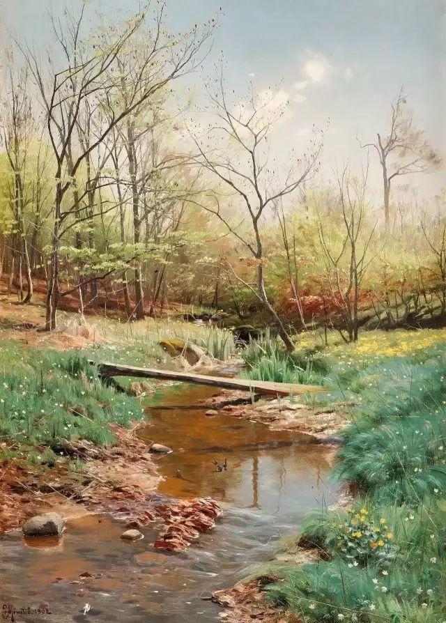 他的画描绘了一派祥和的田园风光,安静美好插图113