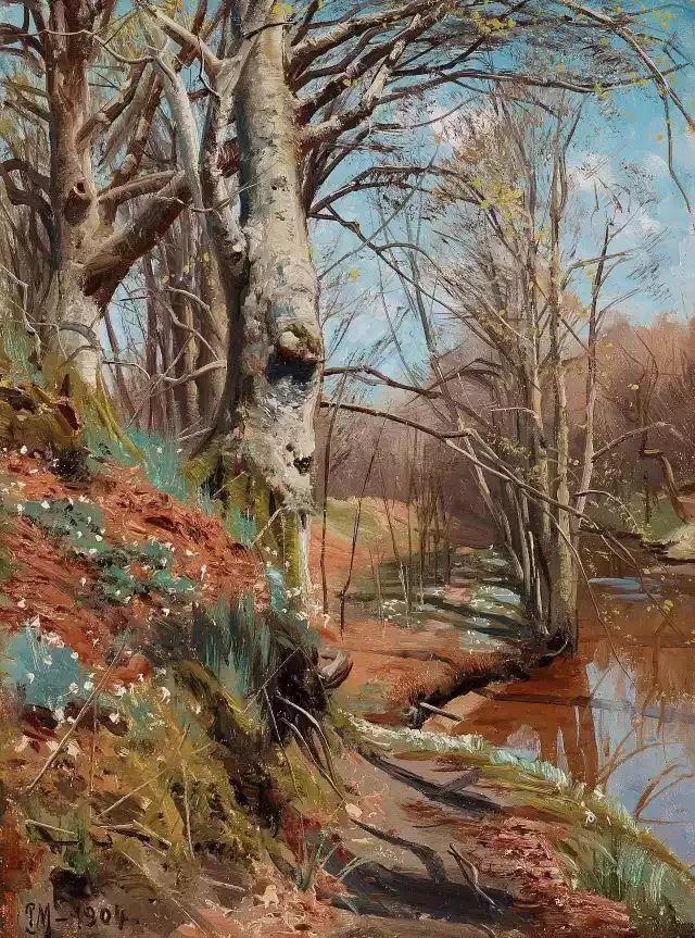 他的画描绘了一派祥和的田园风光,安静美好插图115
