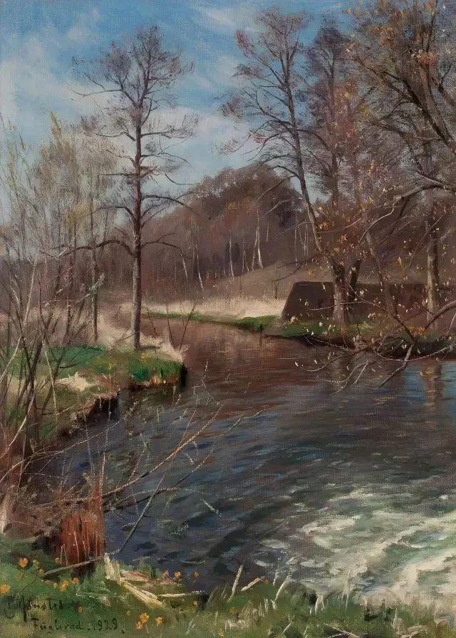 他的画描绘了一派祥和的田园风光,安静美好插图117