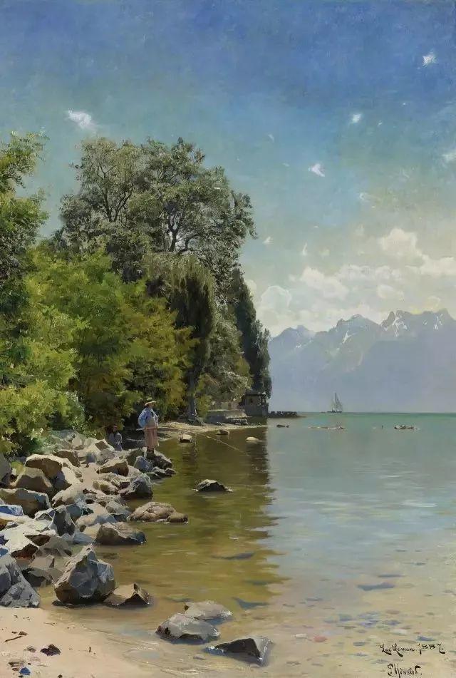 他的画描绘了一派祥和的田园风光,安静美好插图119