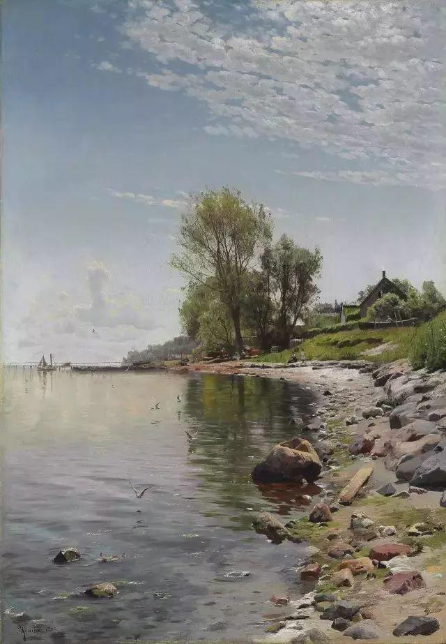 他的画描绘了一派祥和的田园风光,安静美好插图121