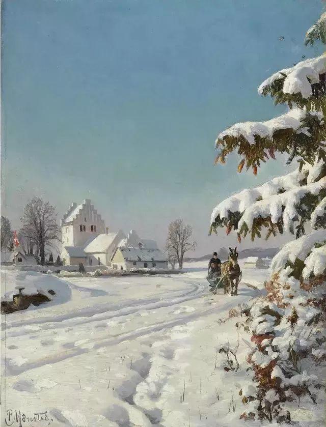 他的画描绘了一派祥和的田园风光,安静美好插图127