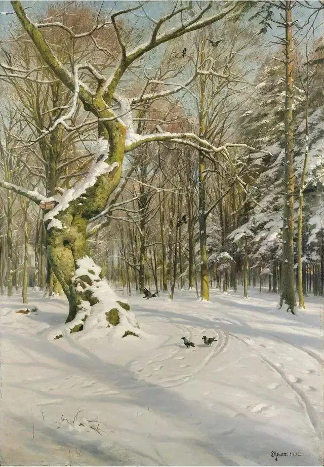 他的画描绘了一派祥和的田园风光,安静美好插图131