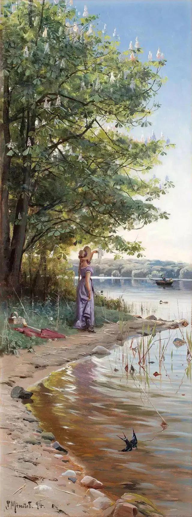他的画描绘了一派祥和的田园风光,安静美好插图133