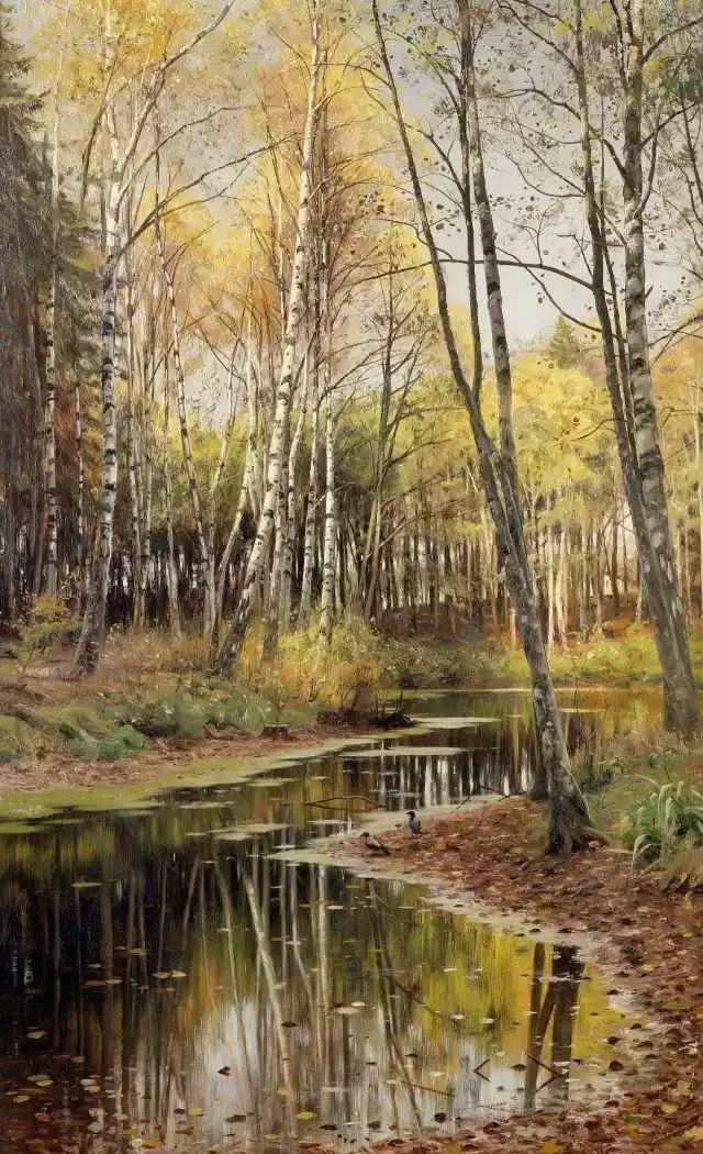 他的画描绘了一派祥和的田园风光,安静美好插图135