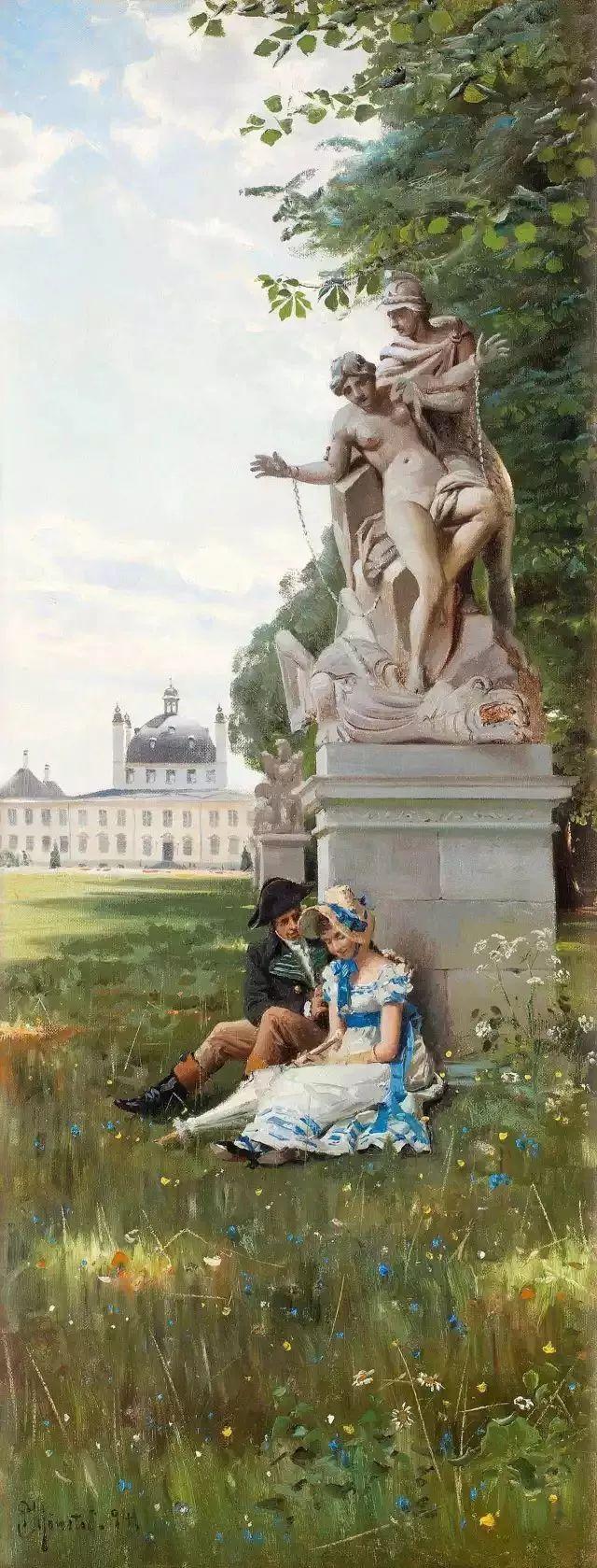 他的画描绘了一派祥和的田园风光,安静美好插图141