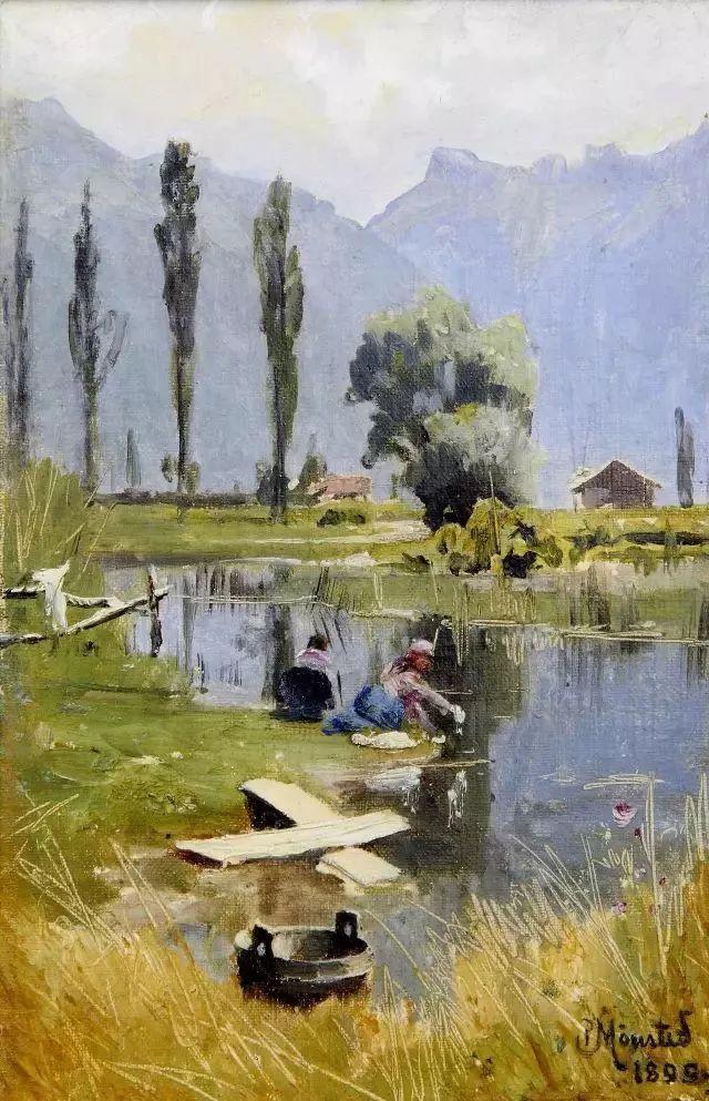他的画描绘了一派祥和的田园风光,安静美好插图143