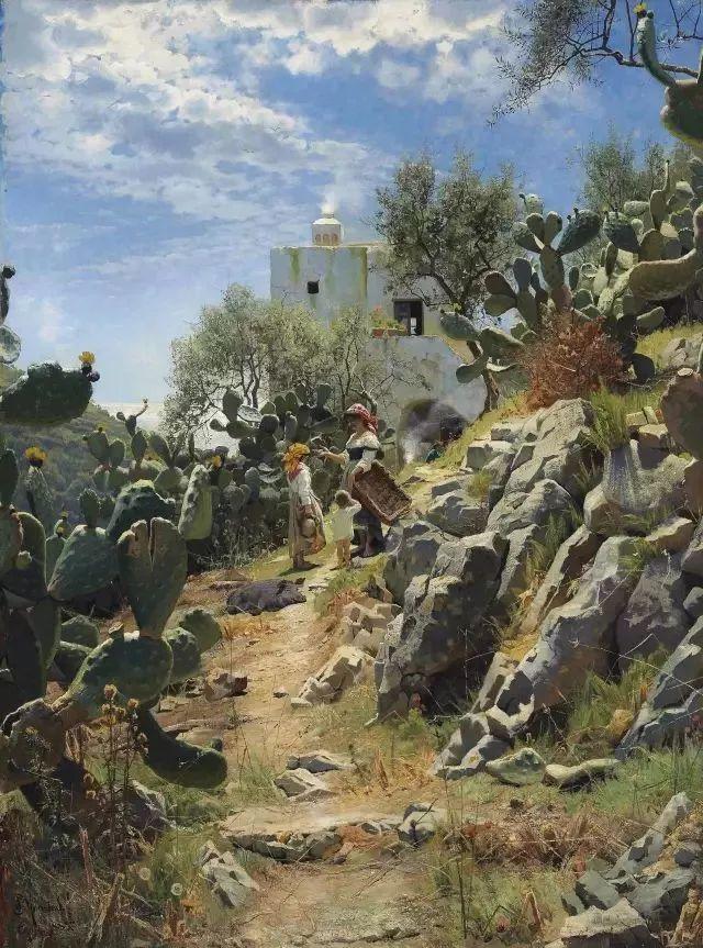 他的画描绘了一派祥和的田园风光,安静美好插图145