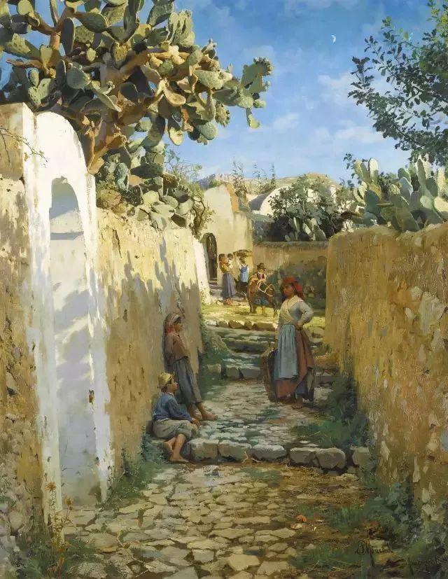 他的画描绘了一派祥和的田园风光,安静美好插图147