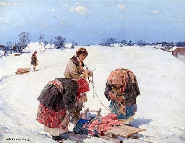 油画中的大美自然,迷人的乌克兰风情插图63