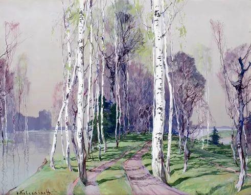 油画中的大美自然,迷人的乌克兰风情插图65