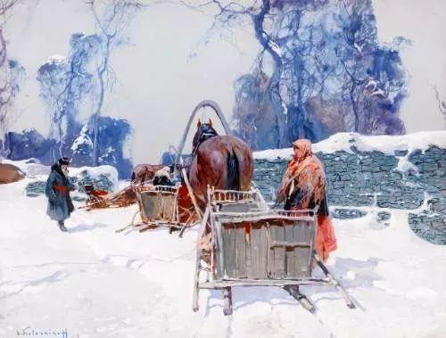油画中的大美自然,迷人的乌克兰风情插图95