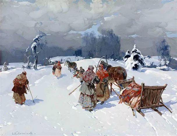 油画中的大美自然,迷人的乌克兰风情插图101