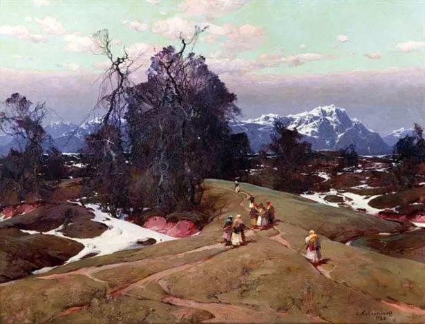 油画中的大美自然,迷人的乌克兰风情插图131
