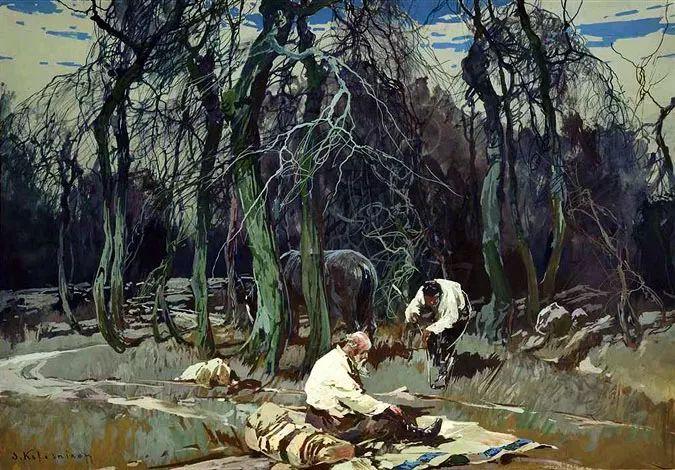 油画中的大美自然,迷人的乌克兰风情插图133