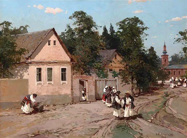 油画中的大美自然,迷人的乌克兰风情插图145