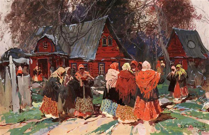 油画中的大美自然,迷人的乌克兰风情插图151