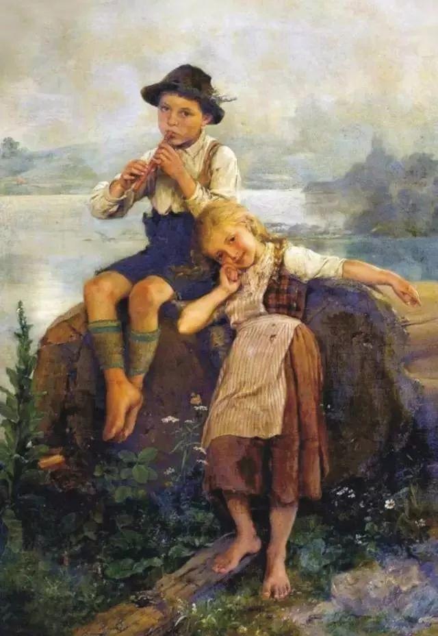 艺术家笔下的纯真童年,有一种触动心灵的美!插图1