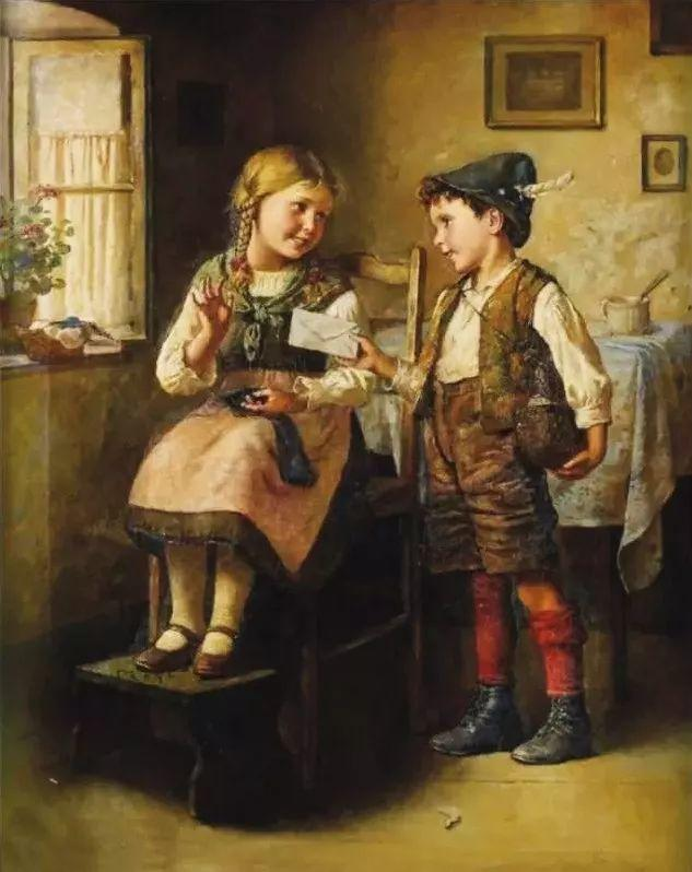 艺术家笔下的纯真童年,有一种触动心灵的美!插图34