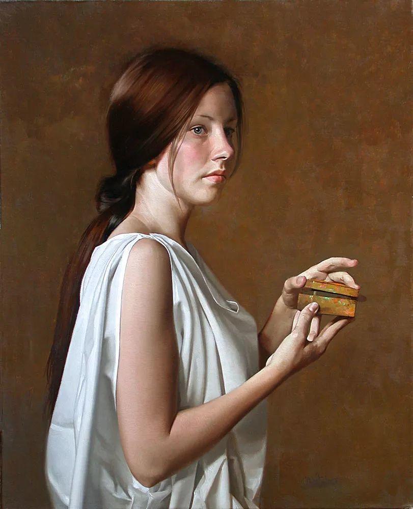 人物油画 美国现代著名画家William Whitaker插图