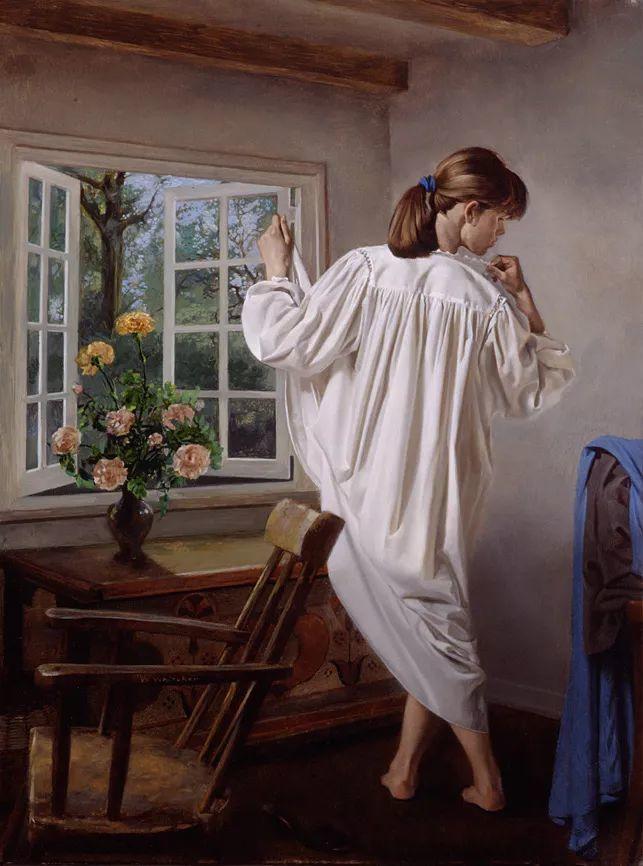 人物油画 美国现代著名画家William Whitaker插图1