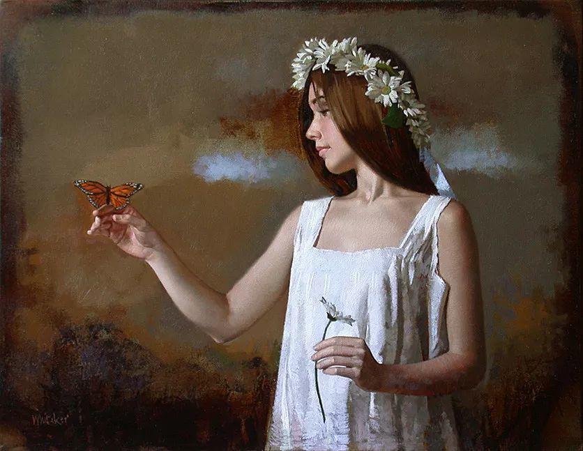 人物油画 美国现代著名画家William Whitaker插图2