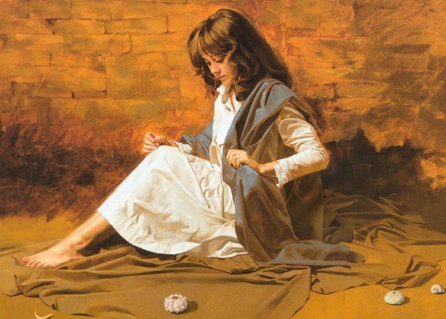 人物油画 美国现代著名画家William Whitaker插图3