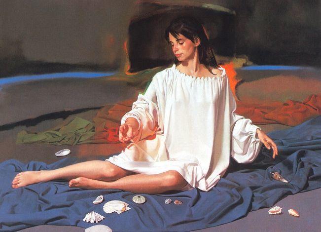 人物油画 美国现代著名画家William Whitaker插图4