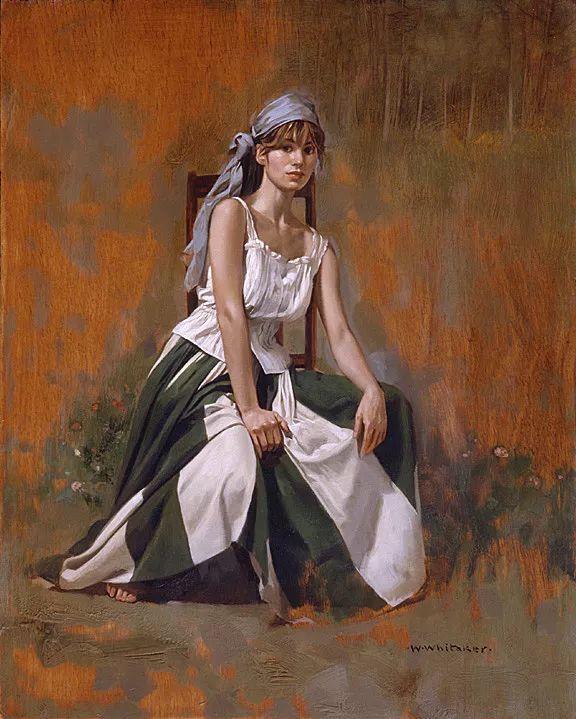 人物油画 美国现代著名画家William Whitaker插图5